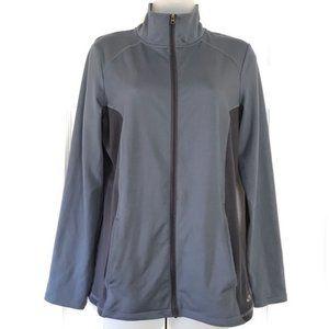Champion Dry Full Zip Black Gray Running Jacket S